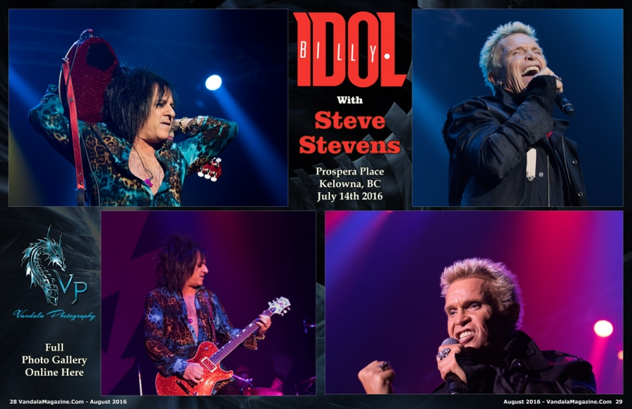 Billy Idol, Steve Stevens Vandala Magazine by Crystal Lee Vandala Photography (2)